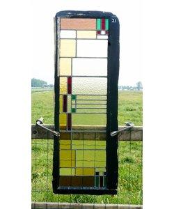 113 x 40 cm - Glas in lood raam No. 21