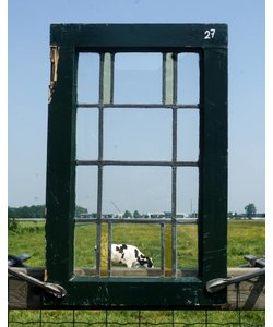 63 x 40 cm - Glas in lood raam No. 27