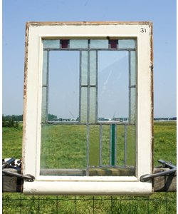 71 x 53 cm - Glas in lood raam No. 31