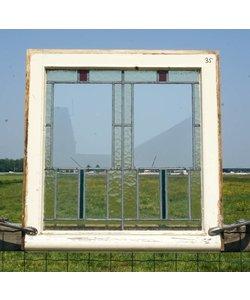 70,5 x 68,5 cm - Glas in lood raam No. 35