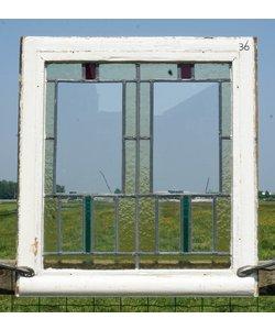 71 x 66 cm - Glas in lood raam No. 36