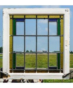 62 x 59 cm - Glas in lood raam No. 52