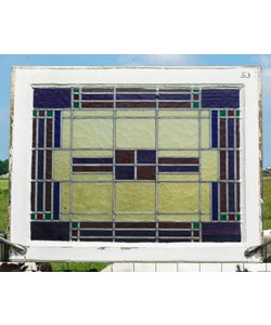 66 x 86 cm - Glas in lood raam No. 53