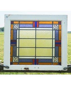 69 x 61 cm - Glas in lood raam No. 57