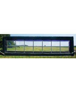 39,5 x 146 cm - Glas in lood raam No. 69
