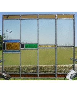 47 x 53 cm - Glas in lood raam No. 75