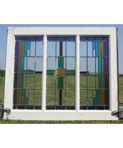 83 x 68 cm - Glas in lood raam No. 78