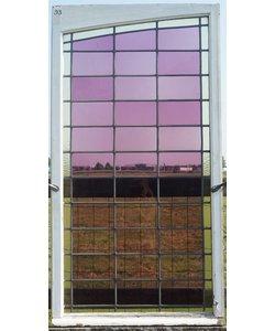 150 x 83 cm - Glas in lood raam No. 93