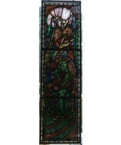 180,5 x 51 cm - Glas in lood kerk ramen
