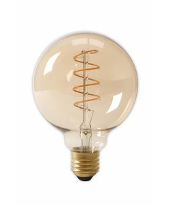 Calex G125 flex LED lamp Gold