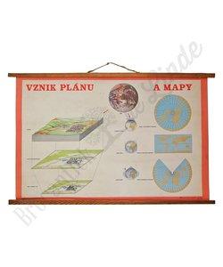 Schoolplaat Plan en Kaart No. 1