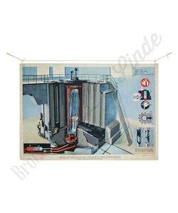 """Technische schoolplaat """"Atoomreactor"""""""