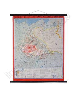 Oude landkaart 'Hussitische revolutie'