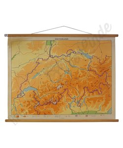 Vintage landkaart 'Zwitserland'