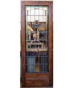212,5 x 78 cm - Glas in lood deur No. 15