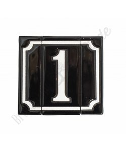 Handgeglazuurde huisnummers - 1