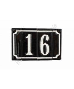 Handgeglazuurde huisnummers - 2