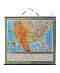 Vintage landkaart 'Verenigde Staten'