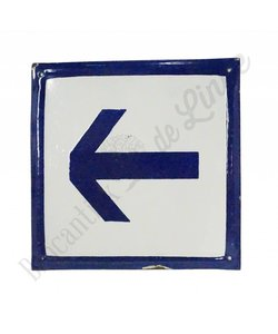 Emaille bord met pictogram pijl