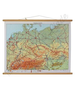 Vintage landkaart 'Midden Europa'