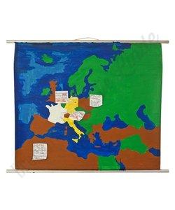 Geschilderde schoolplaat   'Europa'