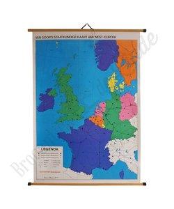 Vintage landkaart 'West-Europa'