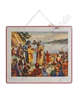 Historische bijbelplaat broodvermenigvuldiging
