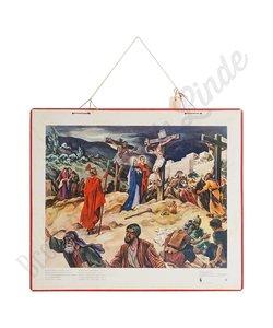 Historische bijbelplaat 'Calvarië'