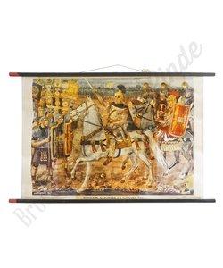 Historische schoolplaat 'krijgsheer'