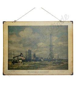Schoolplaat 'olieveld van Schoonebeek'