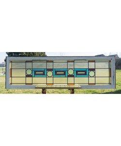 54 x 183 cm - Glas in lood raam No. 110