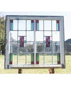 82 x 90 cm - Glas in lood raam No. 113
