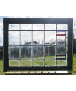 82,5 x 64 cm - Glas in lood raam No. 130