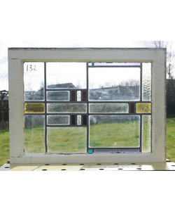 65 x 49 cm - Glas in lood raam No. 132
