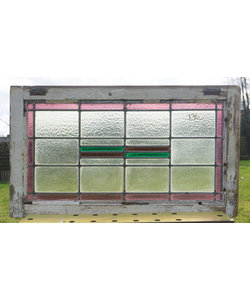 83 x 48 cm - Glas in lood raam No. 136