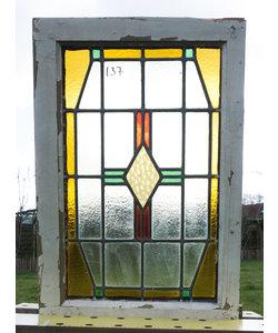 53 x 80,5 cm - Glas in lood raam No. 137