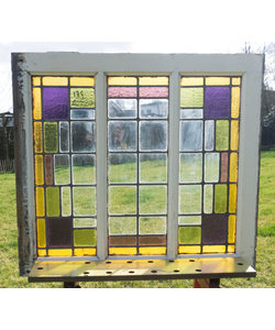74 x 81 cm - Glas in lood raam No. 139