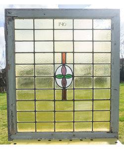 75,5 x 88 cm - Glas in lood raam No. 140