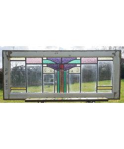 110 x 46 cm - Glas in lood raam No. 143