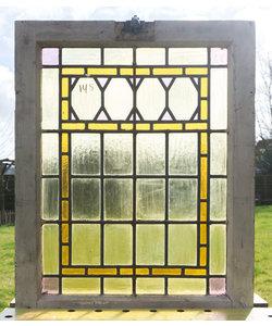 62,5 x 80 cm - Glas in lood raam No. 145