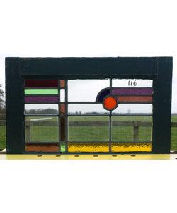42,5 x 63 cm - Glas in lood raam No. 116