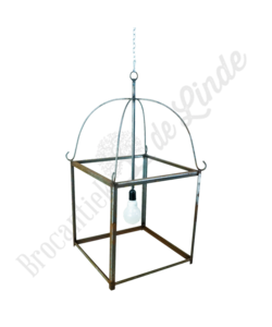 Brocante hanglamp metaal 'Medium'