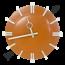 Stoere wandklok - orange