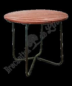 Vintage houten bistrotafel