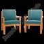 Vintage fauteuil 'Blauw'