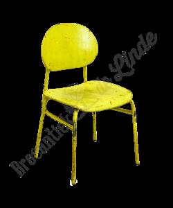 Vintage schoolstoel kinderen 'Yellow'