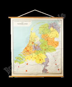 Vintage landkaart - Nederland