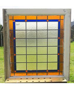 79,5 x 88,5 cm - Glas in lood raam No. 148