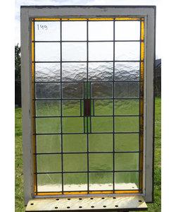 81,5 x 122,5 cm - Glas in lood raam No. 149