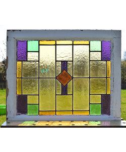 67 x 56 cm - Glas in lood raam No. 168